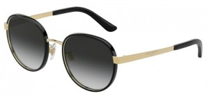 Okulary DOLCE & GABBANA 2227J Black Gold / Grey Gradient DG2227J-02/8G