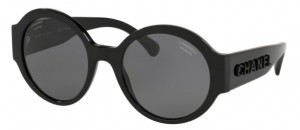 Okulary CHANEL Black / Polarized Grey CH5410-C88T8