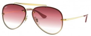Okulary RAY BAN 3584N Demi Gloss Gold / Gradient Brown Pink Transparent ORB3584N-91400T