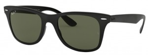 Okulary RAY BAN WAYFARER LITEFORCE Matte Black / Polar. Green ORB4195-601S9A