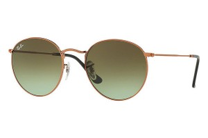 RAY BAN ROUND METAL Shiny Bronze / Green Grad. Brown ORB3447-9002A6
