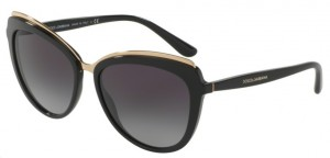 Okulary DOLCE & GABBANA 4304 Black / Gray Gradient DG4304-501/8G