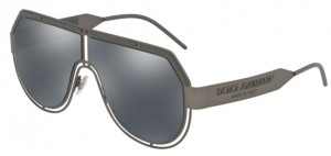 Okulary DOLCE & GABBANA 2231 Matte Dark Gunmetal / Grey Mirror Black DG2231-12866G