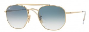 Okulary RAY BAN 3648 Gold / Clear Gradient Blue ORB3648-001/3F