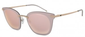 Okulary Emporio Armani 2075 Rose Gold /  Light Violet Mirror Rose Gold  EA2075-31671N