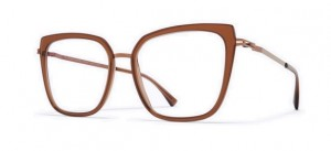Okulary MYKITA SANNA A40 Shiny Copper / Topaz C830