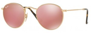 Okulary RAY BAN 3447N ROUND METAL Shiny Gold / Copper Flash ORB3447N-001/Z2