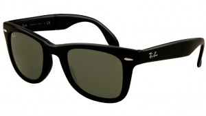 RAY BAN WAYFARER FOLDING Matte Black / Green ORB4105-601S
