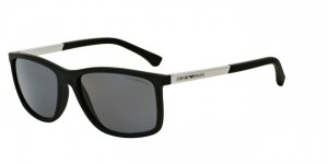 Okulary Emporio Armani 4058 Black Rubber / Polarized Grey EA4058-506381