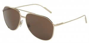 Okulary DOLCE & GABBANA 2166 Pale Gold / Brown DG2166-488/73