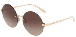 Okulary DOLCE & GABBANA 2228 Rose Gold / Brown Gradient DG2228-129813