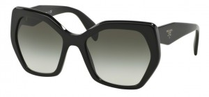 Okulary PRADA Black / Grey Gradient PR16RS 1AB0A7