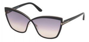 Okulary Tom Ford Black / Grey Gradient FT0715-01B