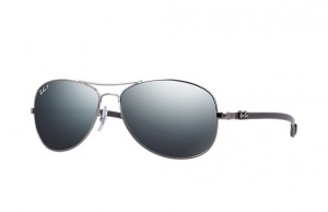 Okulary RAY BAN 8301 Shiny Gunmetal / Blue Mirror Silver Polarized ORB8301-004/K6