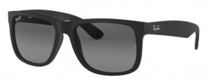 Okulary RAY BAN 4165 JUSTIN Black Rubber Polarized Grey Gradient / ORB4165-622/T3