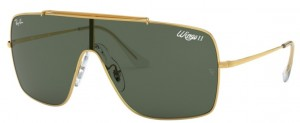 Okulary RAY BAN Wings II Gold / Dark Green ORB3697-905071