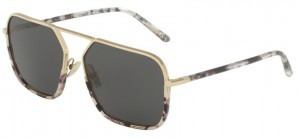 Okulary DOLCE & GABBANA 2193J Pale Gold Havana Black Clear / Grey DG2193J-488/87