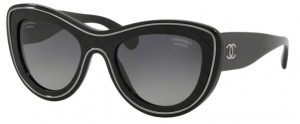 Okulary CHANEL Black / Polarized Grey Gradient CH5397-C501S8