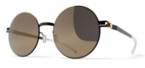 Okulary MYKITA ALICE Gold/Jet Black - Brilliant Grey Solid C167