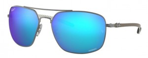 Okulary RAY BAN Gunmetal / Mirror Blue Polarized ORB8322CH-004/A1