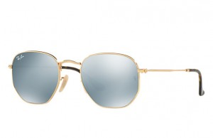 Okulary RAY BAN 3548N Gold / Grey Flash ORB3548N-001/30
