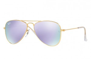 Okulary RAY BAN JUNIOR 9506S Matte Gold / Lillac Flash ORJ9506S-249/4V
