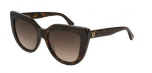 Okulary Gucci Dark Havana / Brown Gradient GG0164S-002