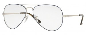 Oprawki RAY-BAN 6489 Silver on Top Blue ORX6489-2970