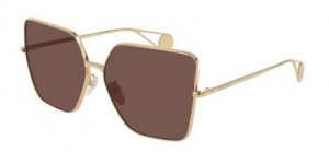 Okulary Gucci Gold / Brown GG0436S-001