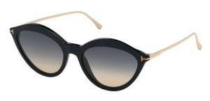 Okulary Tom Ford Black / Grey Gradient FT0663-01B