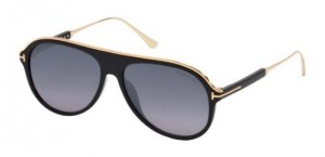 Okulary Tom Ford Shiny Black / Blue Gradient  FT0624-01C