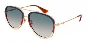 Okulary Gucci Blue Red Ivory / Blue Gradient GG0062S-013