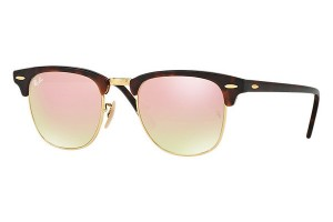 Okulary RAY BAN CLUBMASTER Shiny Red Havana / Copper Flash Grad. ORB3016-990/7O