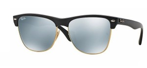 Okulary RAY BAN CLUBMASTER Shiny Black  / Light Green Mirror Silver ORB4175-877/30