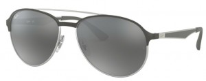 Okulary RAY BAN 3606 Silver on Top Matte Grey / Grey Mirror Silver Gradient ORB3606-912688