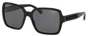 Okulary CHANEL Black / Polarized Grey CH5408-C888T8