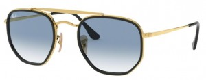 Okulary RAY BAN 3648M MARSHAL II Gold / Clear Gradient Blue ORB3648M-91673F