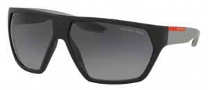 Okulary PRADA Black Rubber  / Polarized Grey Gradient PR08US-4535W1