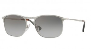 Okulary PERSOL Matte Silver / Gradient Green Polarized PO7359S-1068M3
