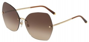 Okulary DOLCE & GABBANA 2204 Gold / Brown Gradient DG2204-02/13