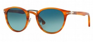 Okulary PERSOL Striped Brown / Light Blue Gradient Polarized  PO3108S-960/S3