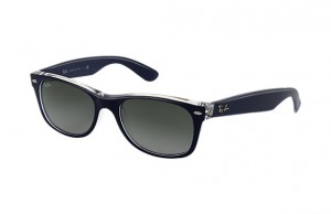 Okulary RAY BAN WAYFARER Matte Blue on Transparent / Grey Grad. ORB2132-6053/71