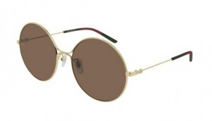 Okulary Gucci Gold / Brown GG0395S-002