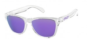 Okulary OAKLEY FROGSKIN Polished Clear / Violet Iridium oo9006-03