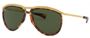 Okulary RAY BAN 3025 OLYMPIAN AVIATOR Strippred Havana / Green ORB2219-954/31