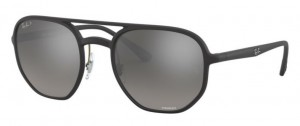 RAY BAN Matte Black / Grey Mirror Grad Polarized ORB4321CH-601S5J