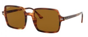 Okulary RAY BAN SQUARE II Stripped Havana / Brown Polarized ORB1973-954/57