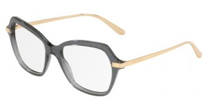 Okulary DOLCE&GABBANA Transparent Black Pois gold DG3311-3210