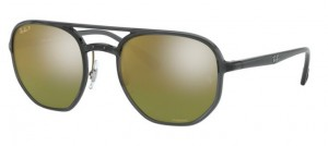 Okulary RAY BAN Transp Dark Grey/Green Gold Polar Mirror RB4321CH-876/60