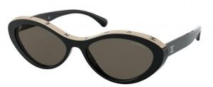Okulary CHANEL Black Beige / Brown CH5416-C534/3